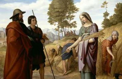 Ruth in the Field of Boaz, Julius Schnorr (1828) (Creative Commons image on Wikipedia)